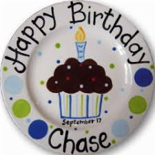 personalized ceramic plate personalized ceramic cupcake plate happy birthday keepsake