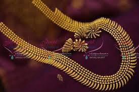 gold haram sets nl6541 design stylish necklace antique dull gold haram
