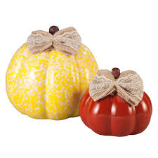 ceramic pumpkins small medium ceramic pumpkins set of 2 kimball