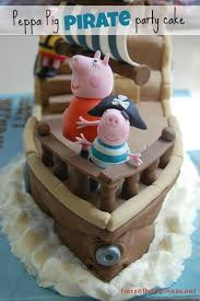 ahoy peppa pig pirate party cake julie rose party co