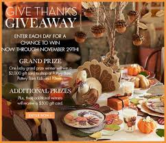 thanksgiving giveaway pottery barn gift cards sweeps maniac