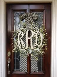 monogram wreath monogrammed wreaths for front door this also the