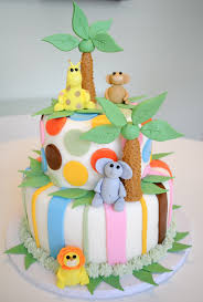 megmade cakes jungle baby shower cake