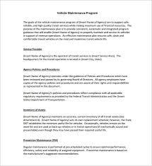 vehicle maintenance schedule templates u2013 9 free word excel pdf