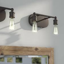 gallego 3 light glass shade vanity light laurel foundry modern farmhouse agave 2 light vanity light birch lane