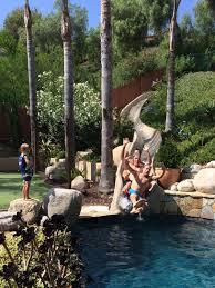 backyard water slide home outdoor decoration