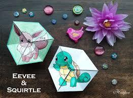 paper toys pokemon evolution flextangles hattifant