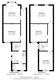hatfield house floor plan 3 bed terraced house for sale in weight road chelmsford essex