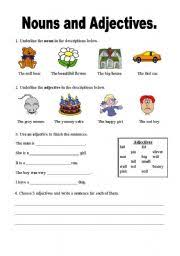 adjectives and nouns worksheet teaching worksheets nouns
