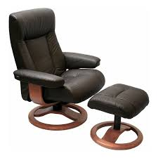 Chair With Matching Ottoman Scansit 110 Ergonomic Leather Recliner Chair Ottoman
