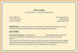 Sample Objectives For Your Resume by Example Resume Hrm Graduate Augustais
