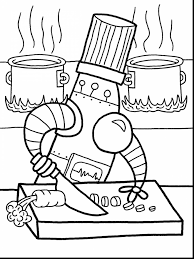 extraordinary little robots coloring with robot coloring page