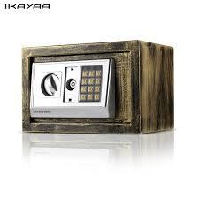coffre fort bureau ikayaa acier numérique coffre fort électronique boîte bijoux