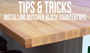 how to install butcher block countertops tips tricks on installing butcher block countertops sew woodsy