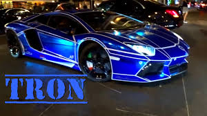 Lamborghini Aventador Black And Red - tron look on lamborghini aventador blue chrome youtube