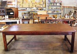 salvaged wood dining room table 16084