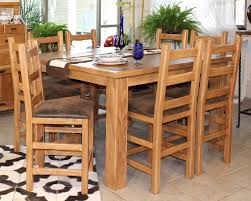 Pine Dining Room Set by Counter Height Farmhouse Table Home Table Decoration