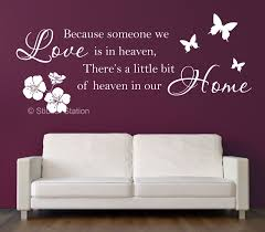 because someone we love is in heaven inspirational wall art because someone we love is in heaven inspirational wall art sticker sticker station