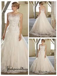 wedding dress illusion neckline stunning a line illusion neckline back lace wedding dresses