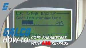 how to copy parameters with abb acs drives from keypad youtube
