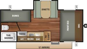 travel trailer floor plan 2018 autumn ridge outfitter 18bhs
