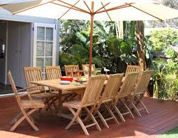 hawkesbury 11 piece teak rectangle extending outdoor dining setting