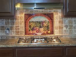 Kitchen Backsplash Tile Murals Decorative Tile Backsplash Kitchen Tile Ideas Tuscan Wine Ii