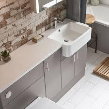 R2 Bathroom Furniture 1500mm Isocast Basin Right R2 Bathrooms