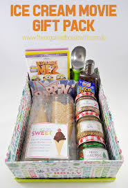Movie Basket Ideas Ice Cream Gift Box The Organised Housewife
