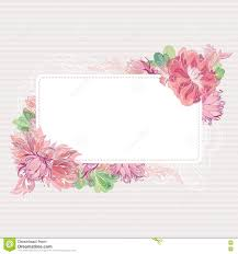 Shabby Chic Website Templates by Romantic Vector Card Template With Floral Border Stock Vector