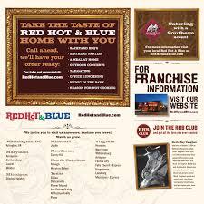 Backyard Restaurant Menu Red U0026 Blue Restaurant Menu