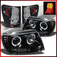 jeep grand cherokee led tail lights 99 04 jeep grand cherokee black housing aftermarket led taillights