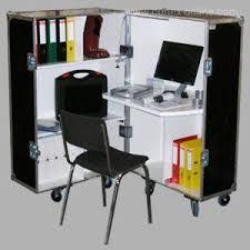 bureau mobile bureau mobile style flight avec roulettes conçu sur mesure