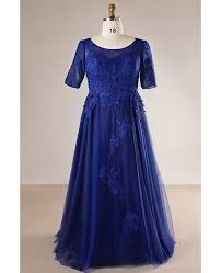 royal blue tulle plus size royal blue tulle and lace evening dress with