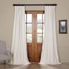 should drapes touch the floor signature off white blackout velvet curtains u0026 drapes