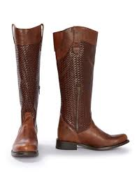 chelsea brown basketweave riding boot