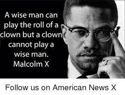 Malcolm X Memes - a wise man can play the roll of a clown but a clown cannot play a