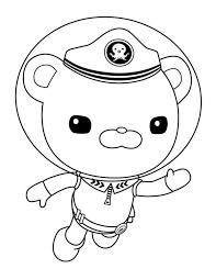 Captain Barnacles Swim In The Octonauts Coloring Page Download Octonauts Coloring Pages