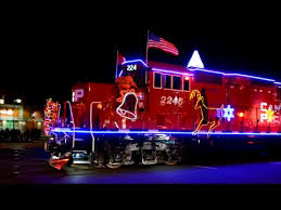 cp holiday christmas train in montreal quebec youtube
