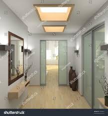 interior modern vestibule 3d render stock illustration 10595857