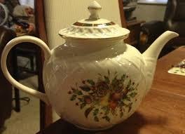 lenox tartan carved teapot dinension collection teapot