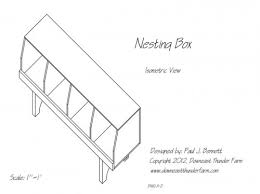 free nesting box plans downeast thunder farm