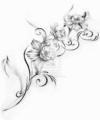 tribal tulip tattoo sketch real photo pictures images and