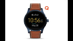 black friday smart watch fossil q marshal touch screen brown leather smartwatch review