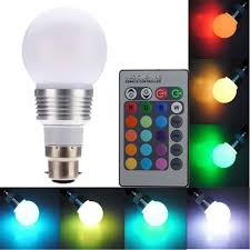 Rgb Led Light Bulb With Remote by Aliexpress Com Buy B22 3w 16 Color Changing Rgb Led Light