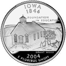 State Quarters Map by Iowa State Quarter U S Mint