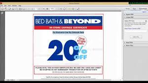 Printable Bed Bath And Beyond Coupon Bed Bath And Beyond Coupon 2015 Youtube