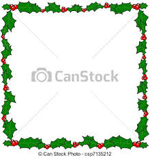 vector illustration of christmas holly border frame vector with