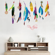 online get cheap feather wall stickers aliexpress com alibaba group