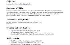 college student resume sle objective lpn nursing resumes templates unusual new nurse graduate resume